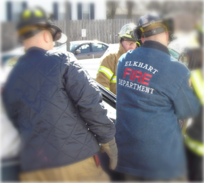 Our Diamond Quilted & Denim Job Jackets on the job in Elkhart, IN