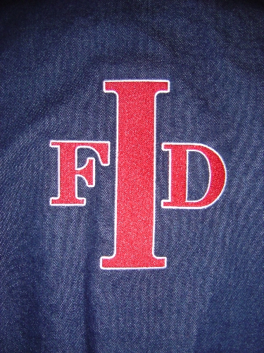 Indianapolis Fire Department Embroidered Back Option 2