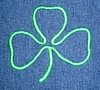 "3"" Outlined Embroidered Shamrock"