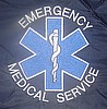 "EMS 4½""   Blue Star Of Life With Surrounding Lettering Chest"